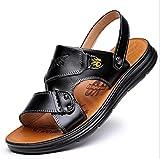 SHENAISHIREN Sandali da Uomo Sandali in Vera Pelle Morbida Scarpe da Spiaggia Sandali da Spiaggia Sandali da Uomo Pantofole per Sandali, Tocco Sandali Cinturino Stretta per Uomo