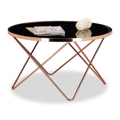Relaxdays Copper Tavolino per/da Soggiorno, Rame, Nero, 85x85x49 cm
