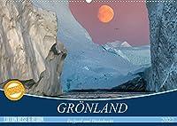 GROeNLAND Eisfjord und Diskobucht (Wandkalender 2022 DIN A2 quer): Abenteuerliche Expedition durch die arktischen Eiswelten (Monatskalender, 14 Seiten )