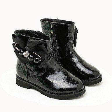 kekafu Las niñas zapatos Charol moda otoño invierno pelusas Forro Botas/botines botas Bota Botines Bowknot Para Vestido de Boda Gris rojo,Negro,US5.5 / UE37 / UK4.5 Niños Grandes