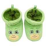 PJ Masks Boys Socktop Slippers - PJMASKS Catboy, Owlette, Gekko Toddler Slippers (Green, 7-8 Toddler)