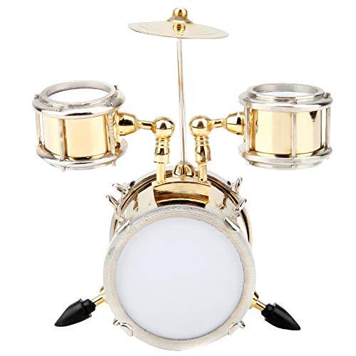 Hztyyier Miniatur Musikinstrument Modell Replica Drum Set Ornament Schlagzeuger Geschenk Wohnkultur mit Box, 3.15 * 1.54 * 3.39in