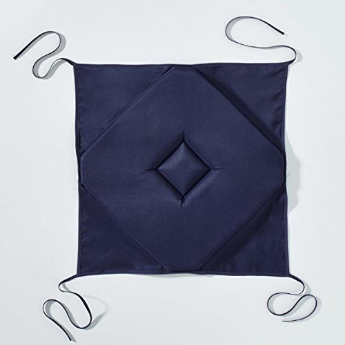 Today 261106 Galette Polyester Ciel d'orage/Bleu Marine 40 x 40 cm