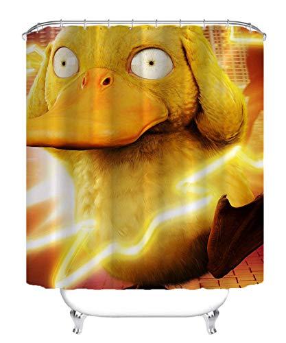 Visionpz Wasserdichter Duschvorhang Pokemon Anime Movie Characters Wasserfester, schnell trocknender Badewannenvorhang aus Polyestergewebe Waschbarer Badevorhang mit 12 Haken 180x180cm