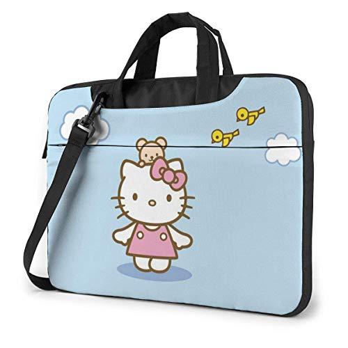 13 Inch Laptop Bag Hello Kitty Blue Sky Laptop Briefcase Shoulder Messenger Bag Case Sleeve