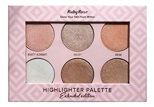 Paleta de Iluminadores Highlighter Palette HB 7501 - Ruby Rose