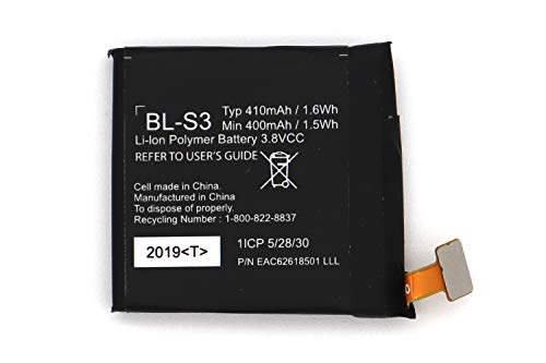 Replacement Battery for LG BL-S3 LG G Watch R W110 LG Watch W150 Urbane Watch LG BL-S3 410mAh