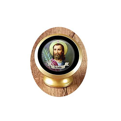 Saint Colgante Collar Arte San Jude Colgante Joyería Cristal Arte Foto Magnético Coche Teléfono Soporte