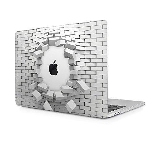 TwoL Funda MacBook Pro 16 Pulgadas 2019, Ultra Delgado Carcasa Rígida Protector de Plástico Cubierta para MacBook Pro 16 2019 Modelo A2141 Ladrillo Transparente