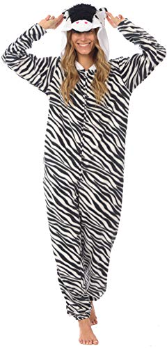 Body Candy Loungewear Ladies Onesie (ZZZZebra, Medium)