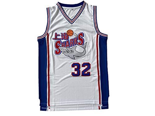 Mens 32 Jimmer Fredette Shanghai Sharks White Movie Basketball Jersey (White, XX-Large)