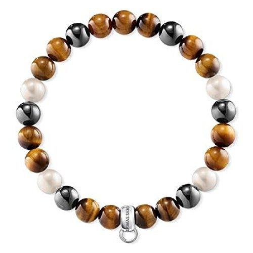 Thomas Sabo Damen-Armreifen Künstliche Perle X0218-948-2-L15,5