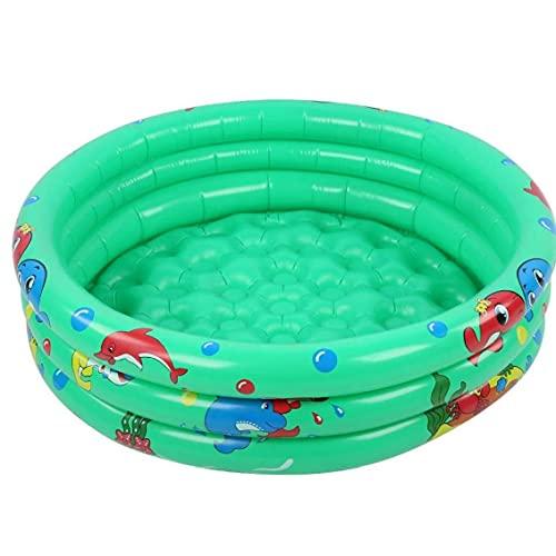 Opblaasbare peuterbad, 3-ringen kinderen baby's cartoon achtertuin zwembad, 90x25cm, baby badpool,