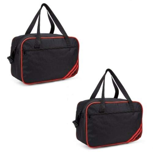 40x20x25 New and Improved 2019 Ryanair Maximum Sized Under Seat Cabin Holdall Black Red Pack of 2