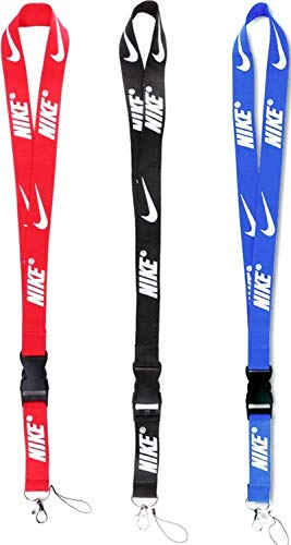 Lanyard 3 Pack Neck Lanyard Strap for Keychains Keys ID Holder Cell Phones Bags Accessories-Detachable Colorful Lanyard with Quick Release Buckle