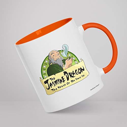 DesDirect Store Jasmine Dragon Tea Uncle Iroh Quotes Airbender Last Uncle Avatar The Last Airbender The Wisdom White Coffee Mug Coffee Mug Tea Cup White (White/Orange 11oz)