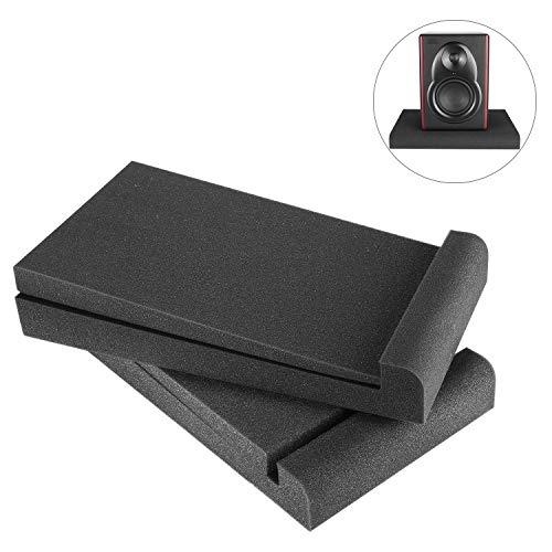 Neewer 2 stück Studiomonitore Absorber für 5-Zoll-Monitore, hergestellt aus extrem dichten Akustikschaum, 29 x 16 Zentimeter Kompatibel mit den meisten 5-Zoll-Lautsprecherboxen (Schwarz)