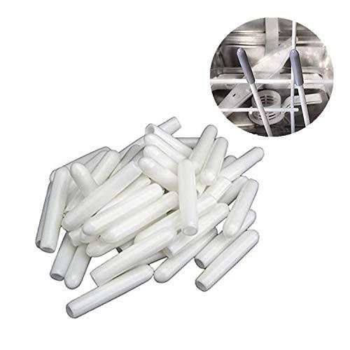 100 Piezas de Tapas Cubiertas de Púas Punta de Estante de Lavavajillas Tapas de Puntas de Estante Sólo Empujarse a Reparar, Blanco 30x5mm