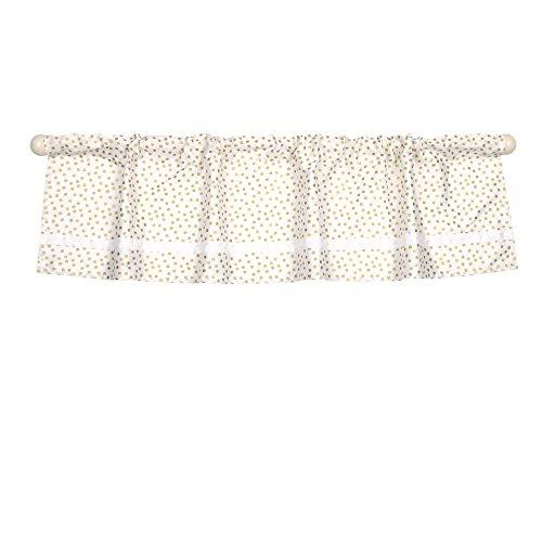 Gold Confetti Dot Print Window Valance by The Peanut Shell - 100% Cotton Sateen