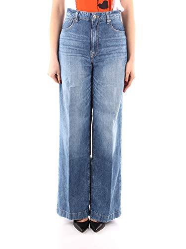 Guess Jeans W1GA09 D4CV2 Super High Wide Leg Donna (28)