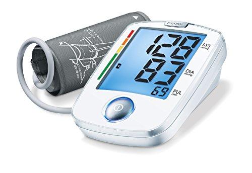Beurer BM 44 vollautomatisches Blutdruck- und Pulsmessgerät, für die Messung am Oberarm mit Ein-Knopf-Bedienung für eine einfache Anwendung