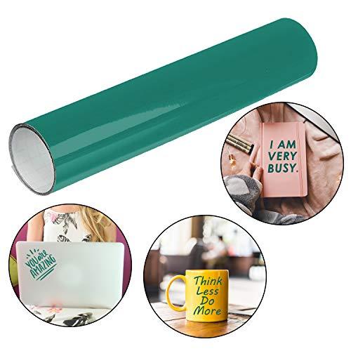 BELLE VOUS Vinylfolie Selbstklebend Grüne - (30cmx3m) Rolle Vinyl Selbstklebefolie - Grüne Vinyl Klebefolie und Abziehbilder für Hobbys, Bastelprojekte, Scrapbook, Homedeko