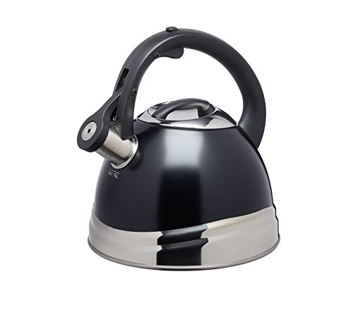 KitchenCraft KCLXKETBLK - Hervidor de silbato, color negro