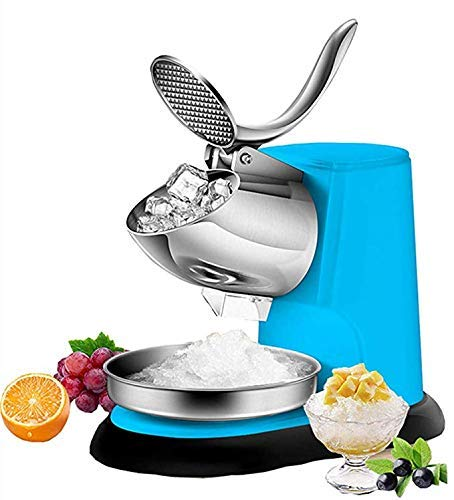 Lowest Price! W-SHTAO Saw Blade Electric Ice Shaver Double Blade Snow Cone Maker Large Capacity Ice Shaving Crusher for Home and Commercial Use 300W 1400r/min