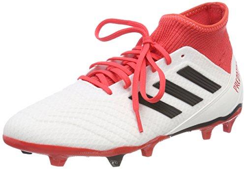 adidas Herren Predator 18.3 FG Fußballschuhe, Weiß (Footwear White/Core Black/Real Coral), 40 2/3 EU