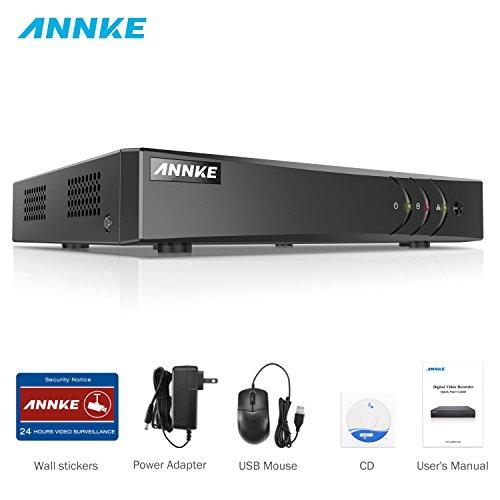 ANNKE 1080P Lite DVR Recorder, 5 IN 1 Digital Video Recorder H.264+ für Videoüberwachung, Bewegungserkennung, Online-Fernzugriff (8CH)