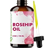 Organic Rosehip Seed Essential Oil - 4 oz Pure Cold Pressed Unrefined Rose Hip Serum for Face Hair Nails 100% Natural Skin Care Moisturizer Scar Removal & Facial Acne Treatment Anti Packaging May Vary