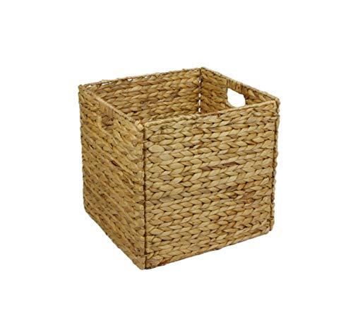 animal-design Regalbox Regalkorb QUADER Wasserhyazinthe Aufbewahrungsbox, passend für IKEA Regal Kallax