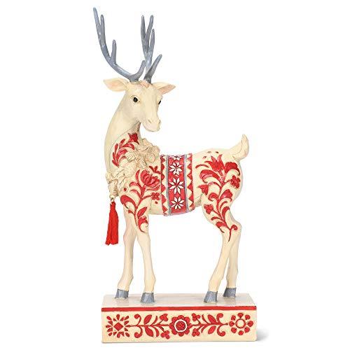 Enesco Jim Shore Heartwood Creek Nordic Noel Reindeer Figurine