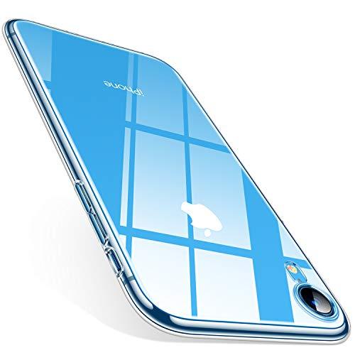 TORRAS Crystal Clear Kompatibel mit iPhone XR Hülle, Transparent [Anti-Gelb] Dünn Handyhülle Schutz Weiche Silikon TPU Bumper Case Scratchproof Durchsichtige Schutzhülle für 6,1 Zoll iPhone XR - Klar