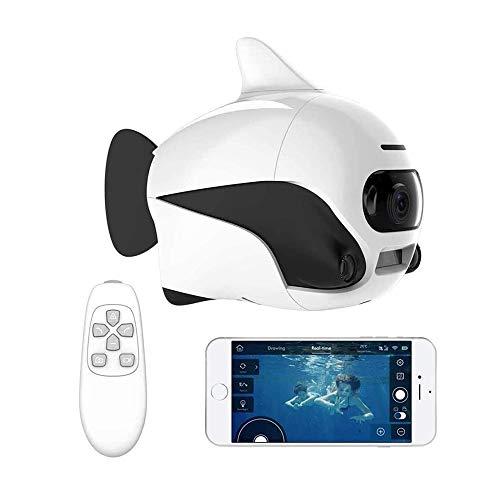 HYDDG Subacqueo Drone, Supporto sommergibile Senza Fili A Distanza Controllo, con 4K HD Telecamera, Wi-Fi Connessione Bionico Design Pesce Robot Animale Domestico in Piscine Laghi
