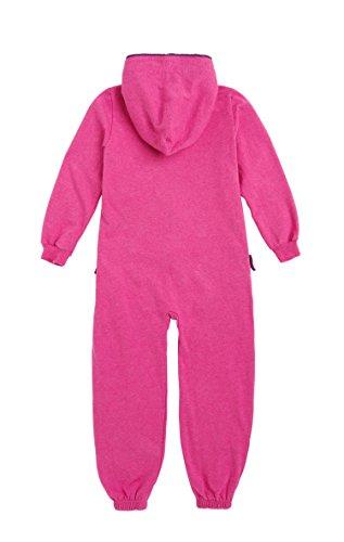 Onepiece Mädchen Bekleidungsset Jumpsuit Kids Solid, Rot (Raspberry Melange) - 2