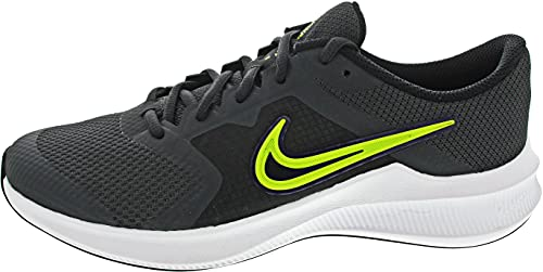 Nike Downshifter 11, Scarpe da Ginnastica, Dk Smoke Grey/Volt-Black-White, 38 EU