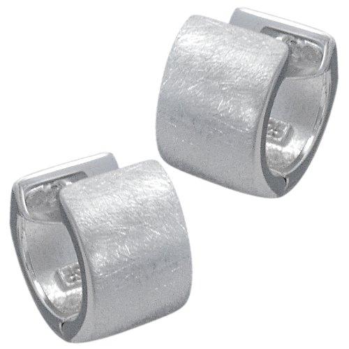 Vinani Klapp-Creolen gebürstet Sterling Silber 925 Ohrringe CBG