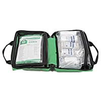 90 Piece Compact Premium First Aid Kit with Reflective Bag - Includes Eyewash, Ice Packs & Emergency Blanket - Ideal for Home, Office, Outdoor, Sports, Hiking, Car, Boat, Caravan, Workplace & Travel. (Red, 90 Piece) 13