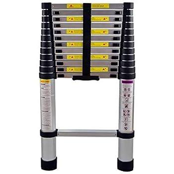 AUFUN Escalera Telescópica 3,8m Escalera de Aluminio Antideslizante Extensible multifunción Carga máxima: 150 kg Escaleras de uso múltiple: Amazon.es: Bricolaje y herramientas