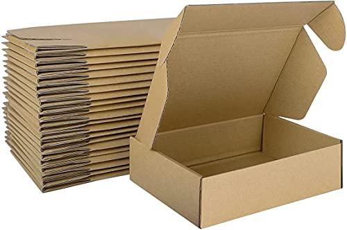 LY-YY Tapa Plegable Envío Cajas De Cartón Cajas De Embalaje Royal Mail Paquete Pequeño Regalo Krafting Envío Postal Envío Marrón (Color : 50 Pack, Size : 25x25x5cm)