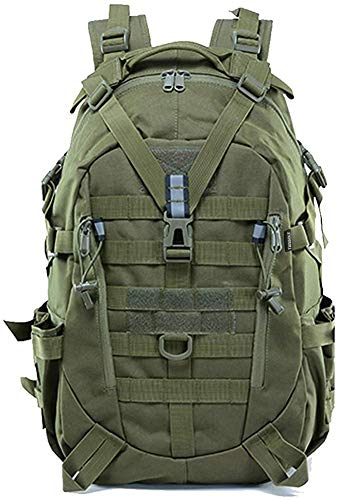 TANSOLE Wandertagesrucksäcke 35L Tactical Military Backpack Pack für Camping Pack für Reisen, Angeln, Klettern (Armeegrün)
