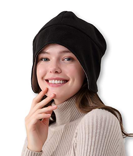 Radia Smart EMF Mütze Beanie, 5G Anti-Strahlung, Strahlenschutz, Gehirnmantel, RF Abschirmung Block WiFi, Schwarz