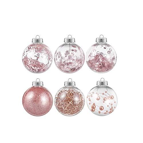 Tomaibaby Adornos de Bolas de Navidad Adornos Colgantes de Bolas de Árbol de Navidad Adornos Colgantes Inastillables Bolas para Suministros para Banquetes de Boda Decoraciones para