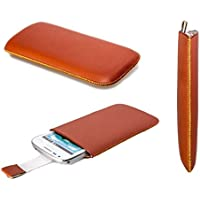 caseroxx Bolsa Estilo Slide para Samsung Galaxy Trend Plus GT-S7580, Funda (Bolsa Estilo Slide en marrón)