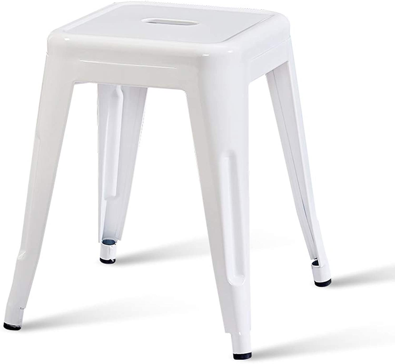 Modern Minimalist Iron Stool Fashion Creative Stool Table Stool Home Living Room Small Bench Adult Stool White