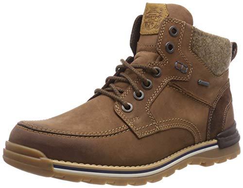 Fretz Men Cooper Chukka Boots, Winterschuhe Herren, rutschfeste Profil-Sohle, Nubuk-Leder, GORE-TEX, 100% wasserdicht und warm, Braun (Cavallo 82), Größe 42 EU
