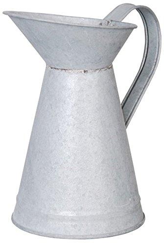 Esschert Design Altzink kan met eendenspel, zink, 19,3 x 12,4 x 20, OZ27