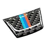 Etiqueta engomada del emblema de la raya del volante del coche de la fibra de carbono para BMW Serie 3 E90/92/93