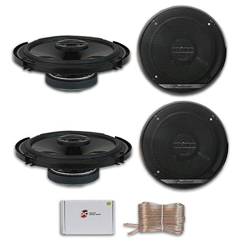 4 x Pioneer TS-G1620F 6.5-inch 2-Way Car Audio coaxial Speakers 6-1/2' with DiscountCentralOnline 25ft Speakers Wire
